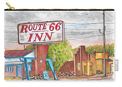 Route 66 Inn In Amarillo, Texas Carry-all Pouch