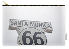 Route 66 Santa Monica- By Linda Woods Carry-all Pouch by Linda Woods