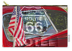 Carry-all Pouch featuring the photograph Route 66 The American Highway by David Lee Thompson
