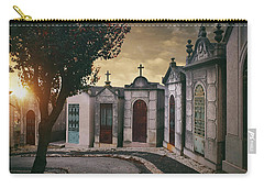 Carry-all Pouch featuring the photograph Row Of Crypts by Carlos Caetano