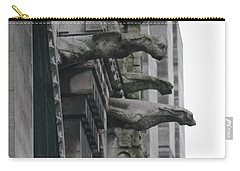 Row Of Gargoyles Carry-all Pouch by Christopher Kirby