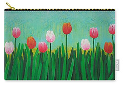 Row Of Tulips Carry-all Pouch