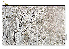 Row Of White Birch Trees Carry-all Pouch