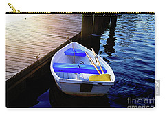 Rowboat At Sunset Carry-all Pouch by Inspirational Photo Creations Audrey Woods