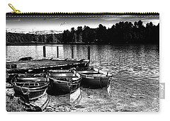 Carry-all Pouch featuring the photograph Rowboats At The Dock 2 by David Patterson