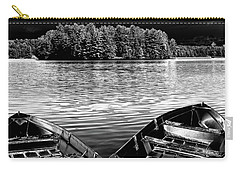 Carry-all Pouch featuring the photograph Rowboats At The Dock 4 by David Patterson