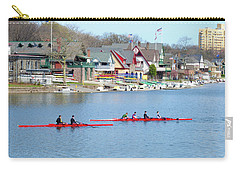 Rowing Along The Schuylkill River Carry-all Pouch by Bill Cannon