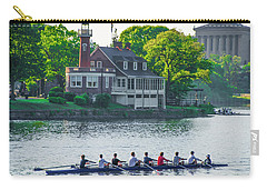 Carry-all Pouch featuring the photograph Rowing Crew In Philadelphia In The Spring by Bill Cannon