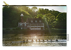 Carry-all Pouch featuring the photograph Rowing In Front Of Segley Club by Bill Cannon