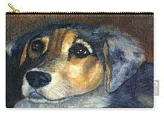 Carry-all Pouch featuring the painting Roxie by Gail Kirtz
