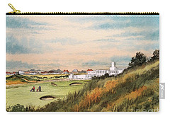 Carry-all Pouch featuring the painting Royal Birkdale Golf Course 18th Hole by Bill Holkham