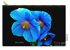 Royal Blue Poppies Carry-all Pouch