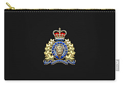 Royal Canadian Mounted Police - Rcmp Badge On Black Leather Carry-all Pouch