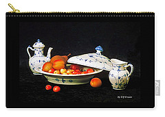 Carry-all Pouch featuring the photograph Royal Copenhagen And Fruits by Elf Evans