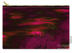 Carry-all Pouch featuring the photograph Purple Rain by Jesse Ciazza