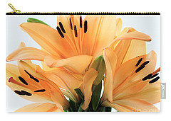 Carry-all Pouch featuring the photograph Royal Lilies Full Open - Close-up by Ray Shrewsberry