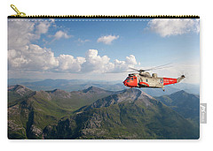 Carry-all Pouch featuring the digital art Royal Navy Sar Sea King by Pat Speirs