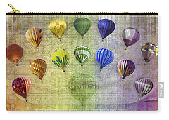 Carry-all Pouch featuring the digital art Roygbiv Balloons by Melinda Ledsome