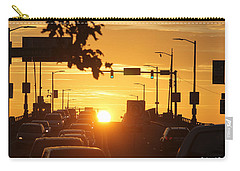 Carry-all Pouch featuring the photograph Rte 50 Bridge At Sunset by Robert Banach
