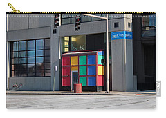 Carry-all Pouch featuring the photograph Rubik Shelter by Michiale Schneider