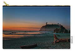 Carry-all Pouch featuring the photograph Ruby Beach Sunset by Mary Jo Allen