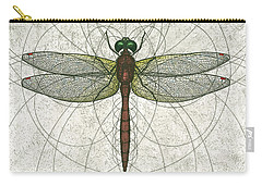 Ruby Meadowhawk Dragonfly Carry-all Pouch by Charles Harden