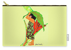 Ruby Palmtree Carry-all Pouch