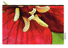 Ruby Red Trillium Carry-all Pouch