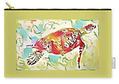 Ruby The Turtle Carry-all Pouch by Erika Swartzkopf