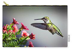 Ruby Throated Hummingbird #1 Carry-all Pouch