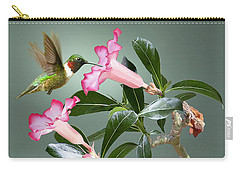 Ruby-throated Hummingbird And Desert Rose Carry-all Pouch