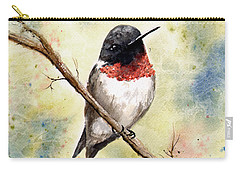Ruby Throated Hummingbird Carry-all Pouch by Sam Sidders