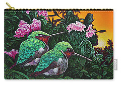 Ruby-throated Hummingbirds Carry-all Pouch by Michael Frank