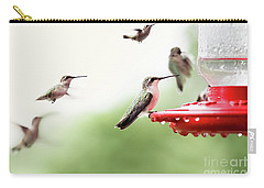Ruby-throated Hummingbirds Carry-all Pouch by Stephanie Frey