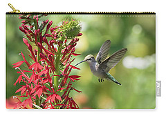 Rubythroated Hummingbird 2016-3 Carry-all Pouch by Thomas Young