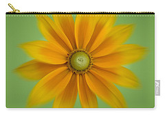 Rudbeckia Blossom Irish Eyes - Square Carry-all Pouch
