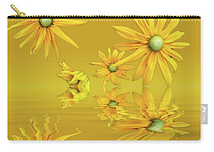 Carry-all Pouch featuring the photograph Rudbekia Yellow Flowers by David French