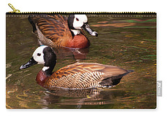 Carry-all Pouch featuring the digital art White-faced Whistling Duck by Chris Flees