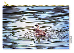 Ruddy Duck Swiimming In A Pond With Autumn Reflections Carry-all Pouch