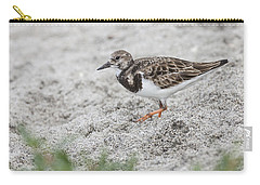 Ruddy Turnstone Foraging On The Beach Carry-all Pouch