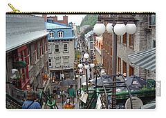 Carry-all Pouch featuring the photograph rue du Petit Champlain by John Schneider