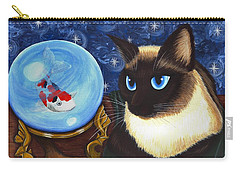 Rue Rue's Fortune - Siamese Cat Koi Carry-all Pouch