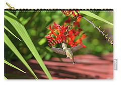 Rufous Hummingbird Feeding On Flower Nectar Carry-all Pouch