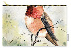 Rufous Hummingbird Carry-all Pouch by Sam Sidders
