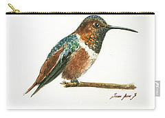 Rufous Hummingbird Watercolor Carry-all Pouch