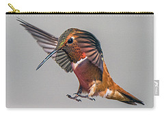Rufous Male Hummingbird Carry-all Pouch