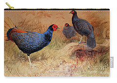 Rufous Tailed Crested Pheasant Carry-all Pouch by Joseph Wolf