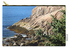 Rugged Coastline Carry-all Pouch by Living Color Photography Lorraine Lynch