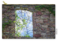 Carry-all Pouch featuring the photograph Ruin Of A Window - Bridgetown Millhouse  Bucks County Pa by Bill Cannon