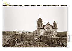 Ruins Of Carmel Mission, Monterey, Cal. Circa 1882 Carry-all Pouch